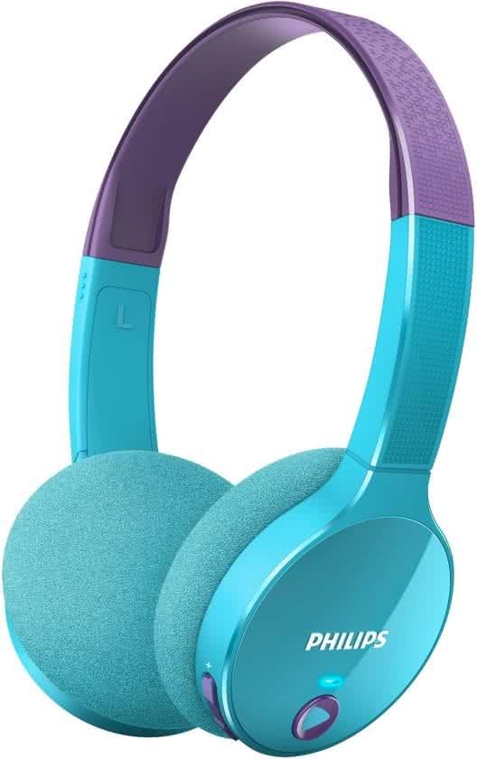 Philips-kinderkoptelefoon-blauw-paars