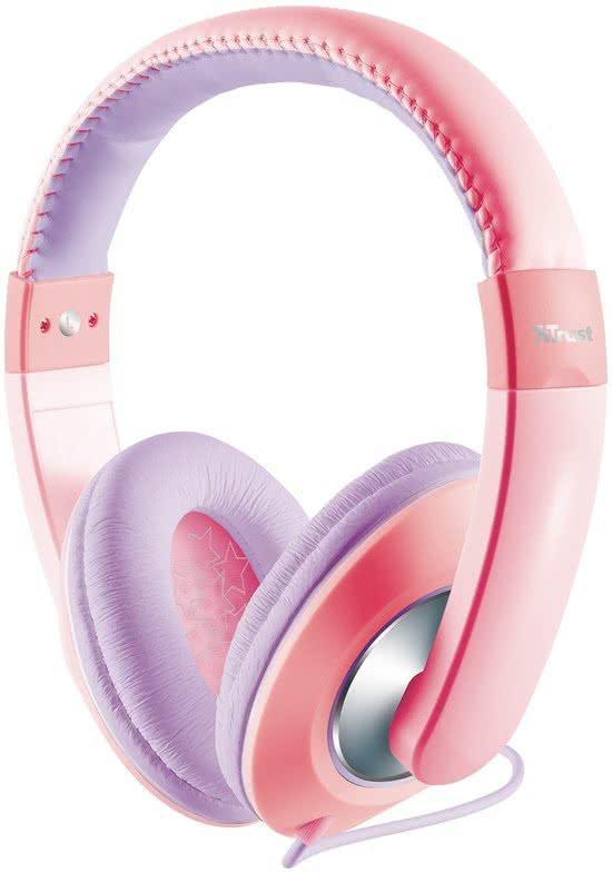 trust kinderkoptelefoon roze