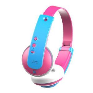 Draadloze kinderkoptelefoon – Roze/blauw – JVC HA-KD9BT-P-E