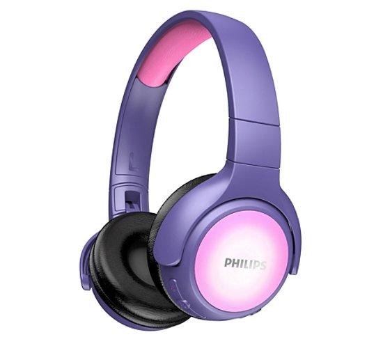 philips-kinderkoptelefoon-paars-led