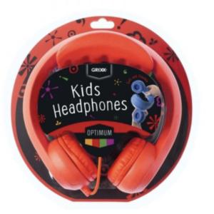 Grixx Optimum Kinderkoptelefoon – max. 85dB – Buigzaam – rood